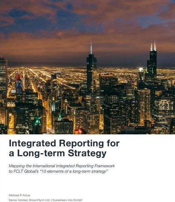 Reporte integrado para una estrategia a largo plazo